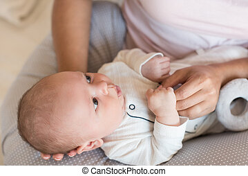 madre, con, bambino neonato