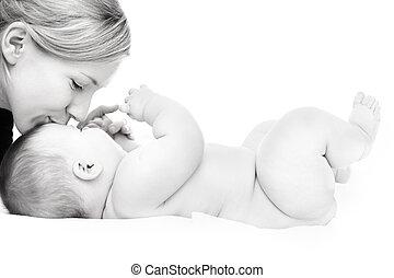 madre, con, bebé