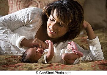 madre, e, neonato