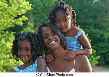 madre, ella, hijas, y