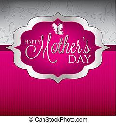 madre, format., elegante, vector, día, tarjeta