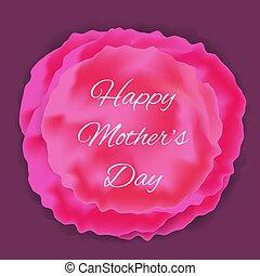 madre, resumen, saludo, floral, día, tarjeta