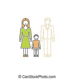 madre sola, icona
