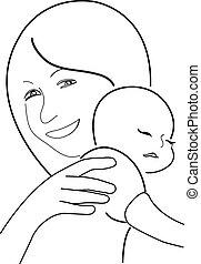 madre y niño,