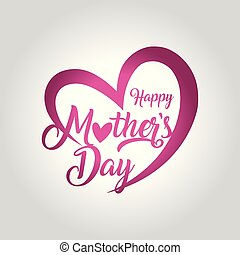 madres, saludo, ilustración, vector, día, tarjeta, feliz