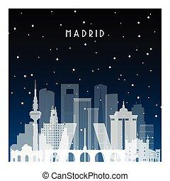 madrid., 冬, 夜