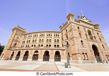 MADRID-APRIL 13: Famous Bullfighting arena in Madrid. Plaza de toros de las Ventas,on april 13, 2013 in Madrid, Spain.
