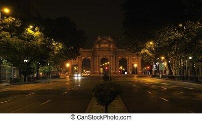 Madrid arch La Puerta De Alcala arch, Madrid, Spain