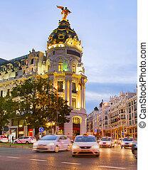 Madrid at twilight, Spain