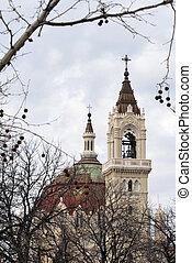 Madrid Cityscape - old church
