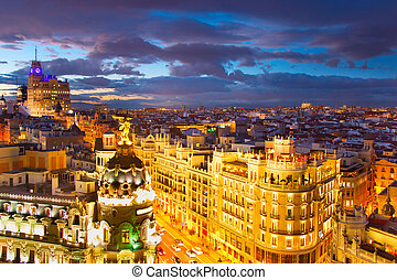 Madrid cityscape, Spain