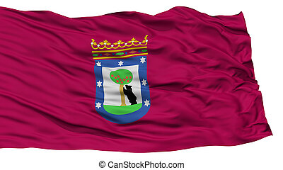 Madrid, drapeau, isolé, ville