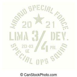 madrid, emblema, militar