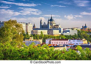 madrid, españa, en, almudena, cathedral.