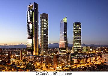 madrid, financeiro, espanha, distrito