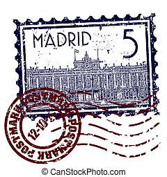 Madrid, isolé,  Illustration, unique, vecteur, icône