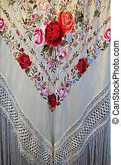 Madrid manton de Manila typical shawl - Madrid manton de...
