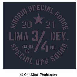 madrid, militar, insignia