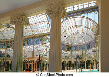 Madrid Palacio de Cristal in Retiro Park glass crystal...