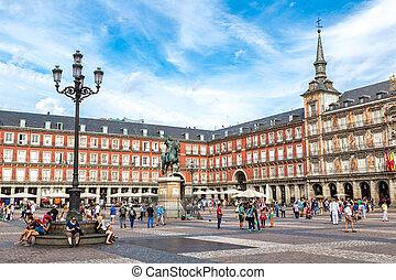 madrid, plaza, estatua, philip, iii, alcalde