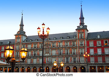 Madrid Plaza Mayor typical square in Spain - Madrid Plaza ...
