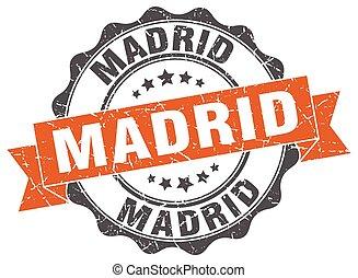 Madrid, rond, Ruban, cachet