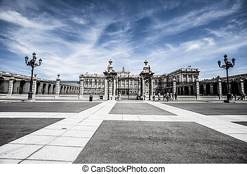 Madrid Royal Palace. Palacio de Oriente, Madrid landmark, Spain.