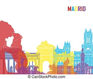 Madrid skyline pop