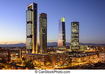 Madrid, Spain Financial District - Madrid, Spain financial ...
