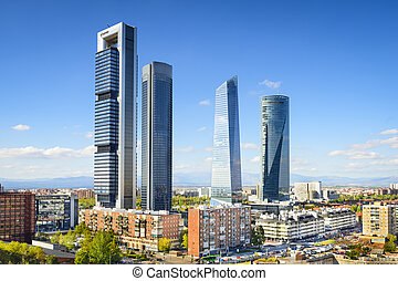 Madrid, Spain Financial District - Madrid, Spain financial...