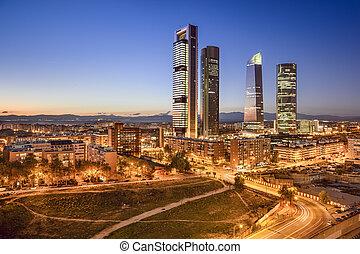 Madrid, Spain Financial District - Madrid, Spain financial...