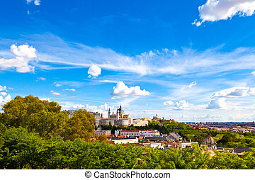 Madrid, Spain - Panorama of Madrid (Spain) with the Royal ...