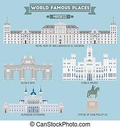 madrid, spain., place., famoso, mundo