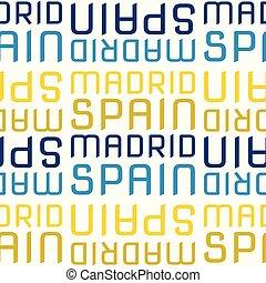 Madrid, Spain seamless pattern