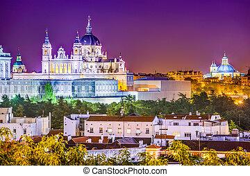Almudena Cathedral - Madrid, Spain skyline at Santa Maria la...