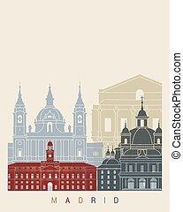 Madrid V2 skyline poster