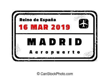 Madrid vector stamp