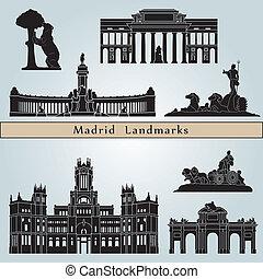 madrid, wahrzeichen, denkmäler