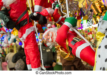 MADRID,SPAIN - DECEMBER 18: Famous Christmas market