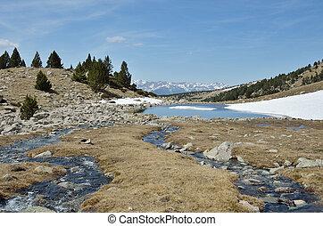 madriu-perafita-claror, glacial, valle, paisaje