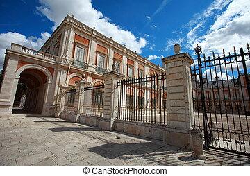 madryt, królewski, aranjuez., pałac, (spain)