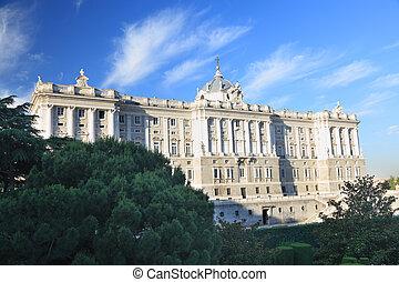 madryt, -, królewski pałac, front