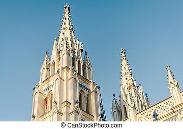 madurai, 教会, 大聖堂, メアリーの, 聖者, 外面, 建築, カトリック教