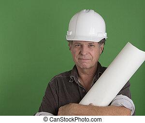 maduras, construção, homem