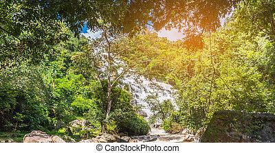 """Mae Ya"" waterfall in Chiang Mai, Thailand."