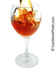 Elegant maelstrom in wineglass