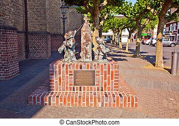"maenekes"", sculpture, Rue, ""sekes, église, willich,..."