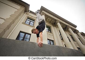 maenner, handstand