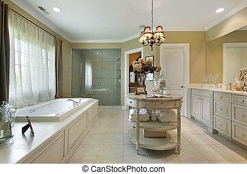 maestro, baño, en, casa luxury