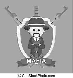 Mafia boss in emblem